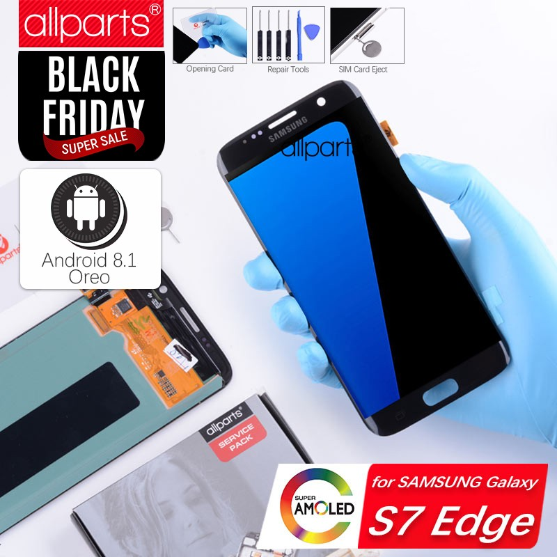 Original Amoled G935F S7 rand LCD Display Screen für SAMSUNG Galaxy S7 rand Display Touch Screen Ersatz Gold Blau Schwarz
