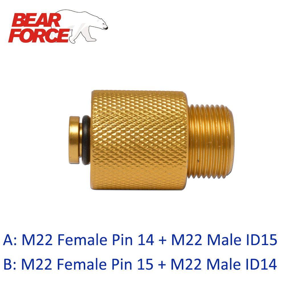 Pressure Washer Adapter M22 Male 15mm id x M22 14mm ID Female Coupler