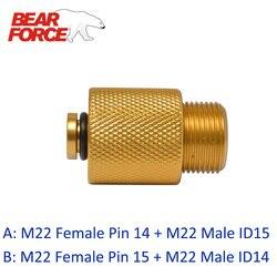 Myjka ciśnieniowa myjni samochodowej Outlet złącze Adapter (konwersji M22-ID 14 do M22-ID 15)