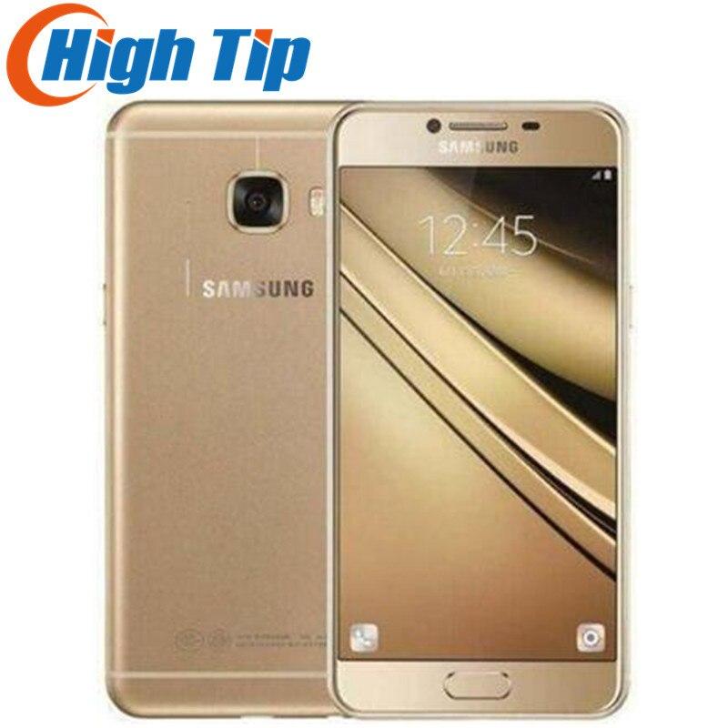 Samsung Galaxy C5 C5000 5.2 pouce Octa-Core 4 gb RAM 32 gb/64 gb ROM LTE 16MP android 1080 p Wifi Double SIM Rénové Mobile Téléphone