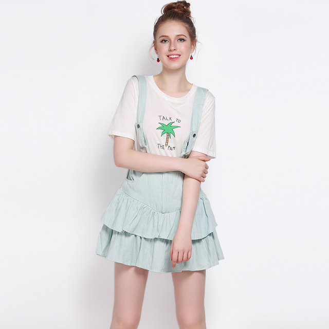 e30217c6223a6 US $26.45 |MY MAYAASOS Women Chic Suspender High Waist Dress Light Blue  Sleeveless Mini Dress Backless Zipper Preppy Style Pleated Dress-in Dresses  ...