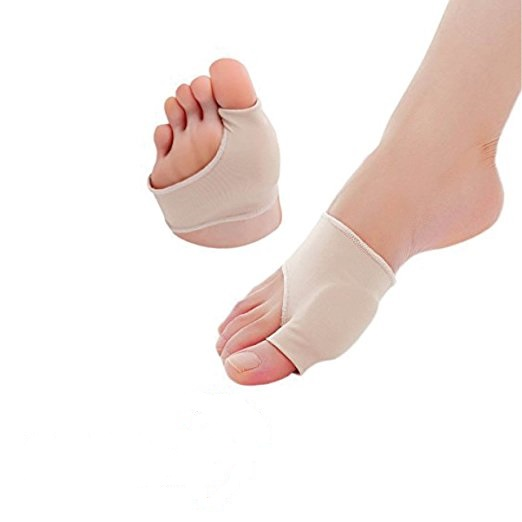 Aptoco 2 Pcs Bunion Corrector Gel Pad Stretch Nylon Hallux Valgus Protector Guard Toe Separator Orthopedic Supplies 1