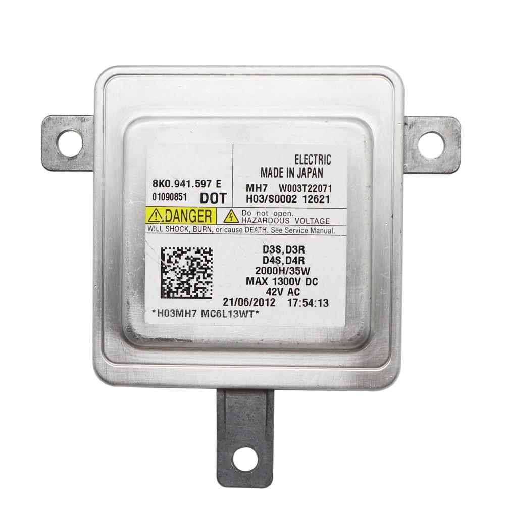 ZEALfix Xenon HID Ballast Headlight 2pcs 8K0 941 597 E W003T22071 Per A3 A4 A5