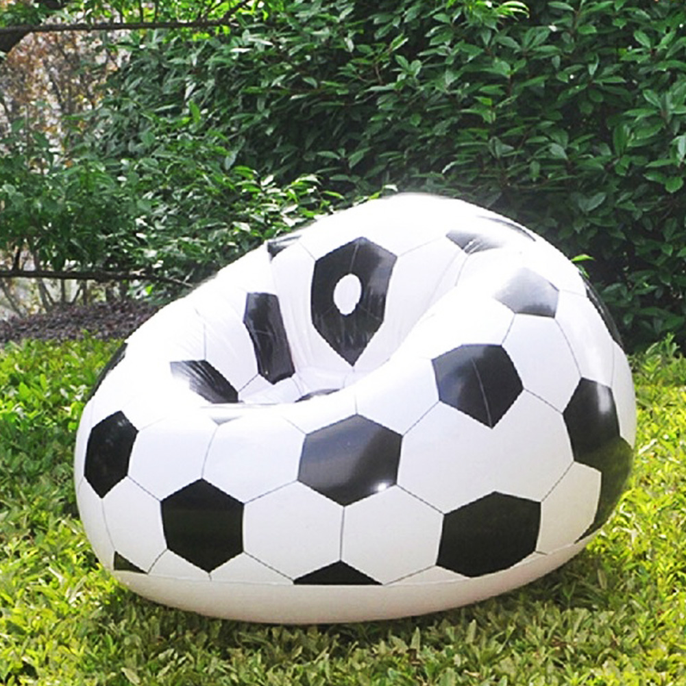 Fashion Inflatable Sofa Air Soccar Football Self Bean Bag Chair Portable Outdoor Garden Living Room Furniture Corner In Sofas From