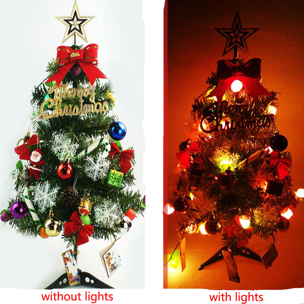 Christmas ornament sets for tree - 2 Sets Lot 60cm New Year Christmas Trees Home Decoration Xmas Tree Ornaments Wedding Party