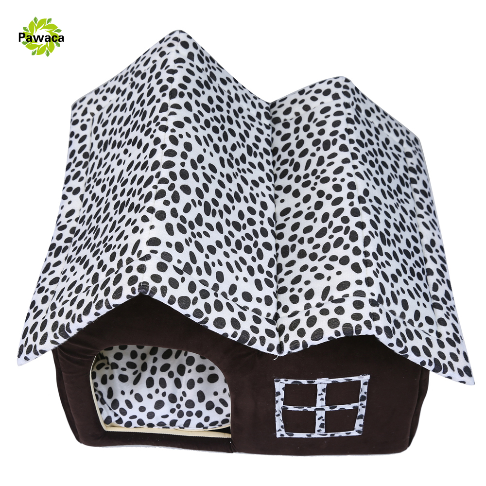 high quality british villa shape small dog beds removable cat litter mat puppy goggie warm room