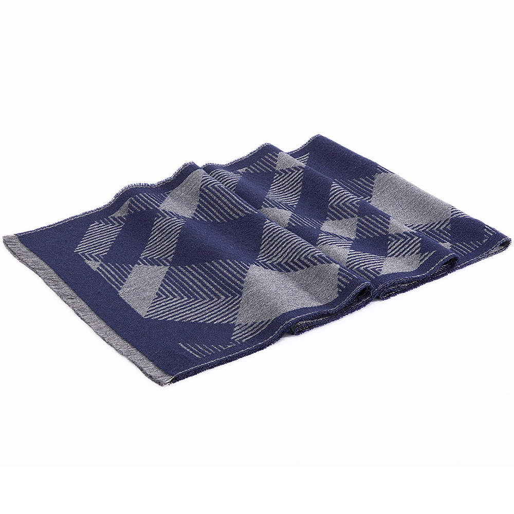Tailor Smith Checked Rectangle Men Scarf 2018 New Design Winter Scarf Outdoor Warm Thick Scarves With Short Fringes 190x35cm