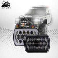 5X7 Inch 85W H4 LED HEADLIGHT BULB 7x6 Inch Headlamp DRL For Jeep Wrangler YJ XJ
