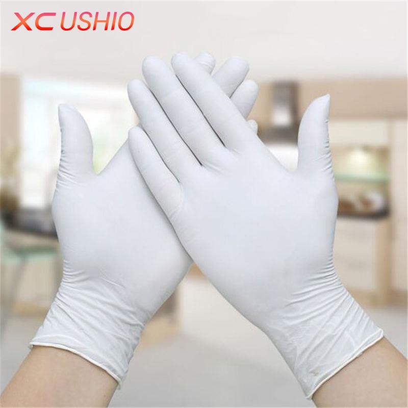 100 шт./лот одноразовые латексные перчатки Универсальные перчатки для уборки многофункциональный домашний Еда медицинские косметические од... ...