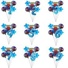 6 pçs spiderman folha balões de hélio 40