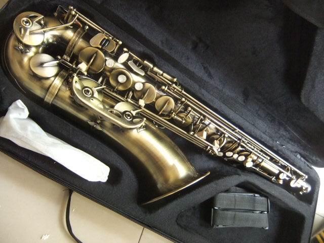 Top Quality QingDao Bb Tenor Saxophone Instruments Antique Bronze top quality qingdao