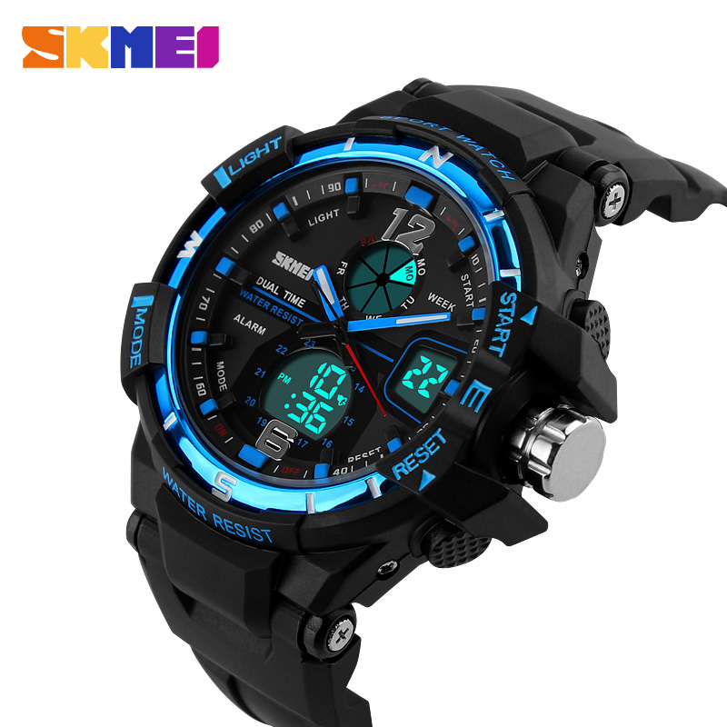 S-Shock Mens Military Sport Watch For Men SKMEI Top Luxury Brand Men's LED Digital Quartz Watch Men Chronograph Sports Watches цена