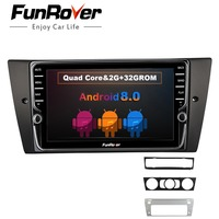 Funrover ips android 8,0 2 din dvd радио мультимедийный плеер для BMW 320 328 3 серии E90 E91 E92 E93 ничуть gps магнитофон