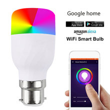Smart Wifi Dimmable LED Bulbs Works RGB Night Light B22/E27 Screw for Amazon Alexa&Google Home LAD-sale(China)