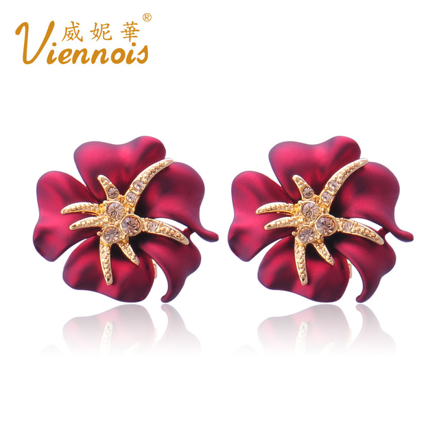fashion bride earrings flower earring fashion gift wedding jewellery four colors free shipping(Mix Order)