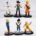 6Pcs/Set Dragon Ball Z Figure DragonBall Gogeta Gotenks Frieza Son Goku Kulilin PVC Figures Toys 12cm Free Shipping