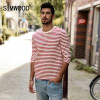 SIMWOOD Long Sleeve T Shirts Men 2017 Autumn New Slim Fit 100 Pure Cotton Striped Breton