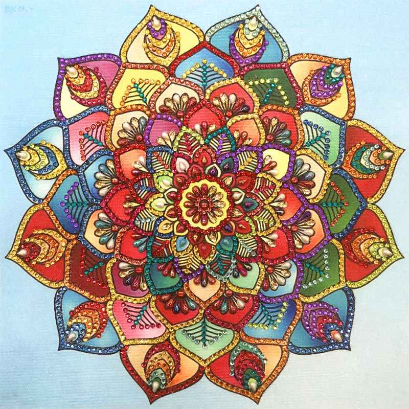 Colorful Flower 5D Special Shaped Diamond Painting Embroidery Needlework Rhinestone Crystal Cross Craft Stitch Kit DIY