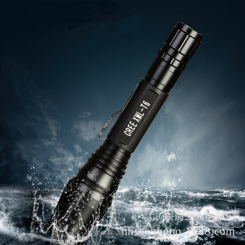 LED CREE XM-L T6 Flashlight 8000Lumens Torch Zoomable Focus Tactical Flashlight Camping Light Lamp by 2*18650 Battery 8200 lumens flashlight 5 mode cree xm l t6 led flashlight zoomable focus torch by 1 18650 battery or 3 aaa battery