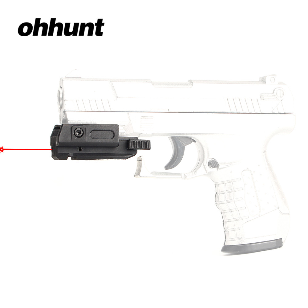 Tactical ohhunt Low Profile Pistol Red Dot Laser Sight Scope Laser Pointer 20mm Picatinny Weaver 3/8 11mm Dovetail Mount