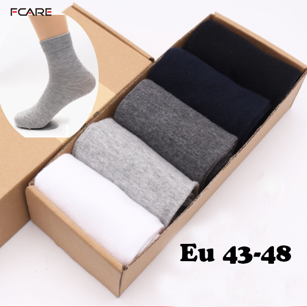 10PCS=5 pairs Plus size big Cotton men Dress   Socks   business 43,44,45,46,47,48 large 3XL male Calcetines Classic Sox Meias