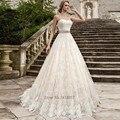 Замок Принцессы Свадебные Платья Кружева Свадебные Платья Бальное платье Розовый Sash Старинные Платья Невесты 2017 Vestidos de Noiva Плюс Размер бода