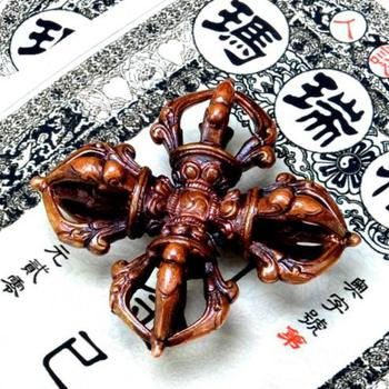 OGRM Bronze Vajra Cross Tibetan Buddhist Vishva-vajra 925 Sterling Silver Karma Vishva-vajra фото