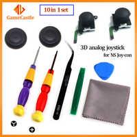 Joystick 3D para NS Joy Con Nintend Switch izquierda derecha varillas analógica reemplazo para Joystick controlador accesorios de reparación + herramientas