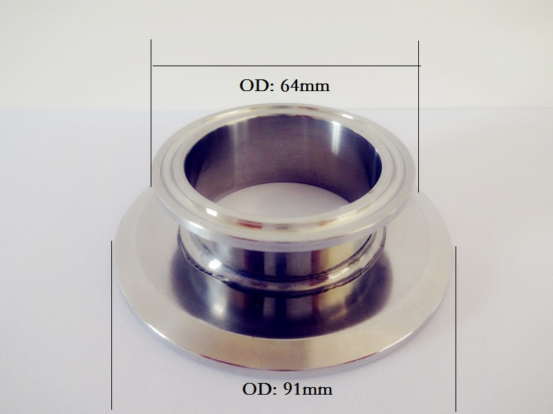 Free Shipping Short Type Tri Clamp Reducer 2(51mm)OD64 x 3(76mm) OD91 , Sanitary Stainless Steel 304 Connector 2 51mm od64 500mm tri clamp pipe sanitary stainless steel 304 and 3 0m stainless steel mesh stainless steel packing