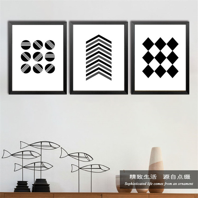 Abstract Minimalist Black Art Canvas Posters Prints Geometric Lines On Canvas Wall For Living Room Home Decor No Frame