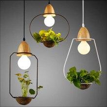 Modern Creative Europe Water Plants Hydroponics Glass Iron Pendant Light for Dining Room Restaurant Black/White E27 Lamp 1558