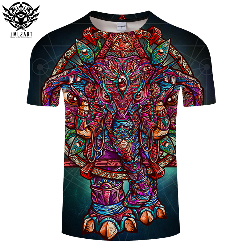 Color Elephant By jml2 Arts 3D Print T shirt Men Women Cartoon ShortSleeve Boy Summer Top&Tee Fashion Tshirt DropShip ZOOTOPBEAR