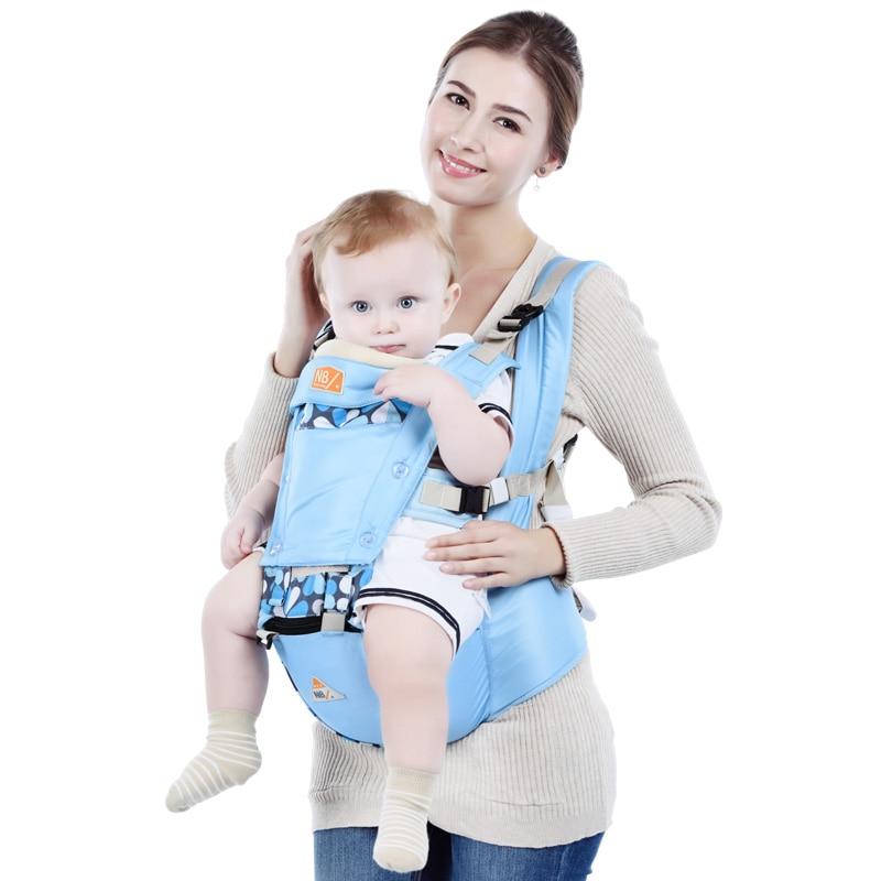 Hot Sale Breathable Soft Baby Backpack AntiSlip Baby Hipseat Belt Infant Carrier Double Shoulder Strap Baby Waist Stool Baby Bag