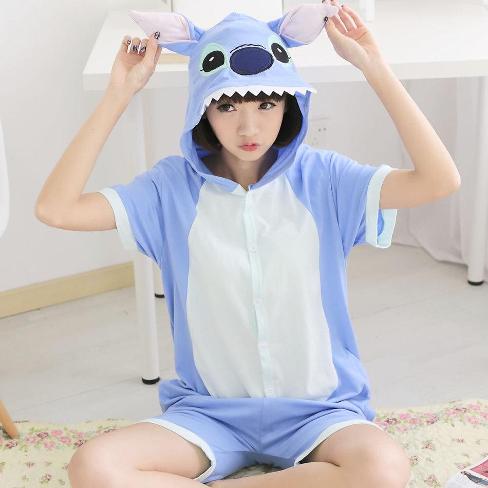 Цосплаи Памук Аниме Цосплаи Животињски костим Шарени цртани пиџама животиња Онесие Спавачице за одрасле