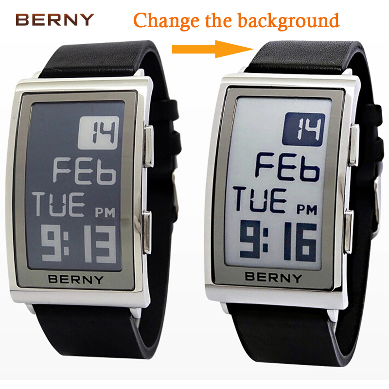 Mens Digital Watch Electronic Ink reloj hombre electronic wrist Mens relogio masculino watch Promotion Christmas Gift E003