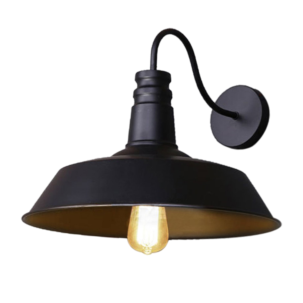 online buy wholesale metal lamp shade from china metal lamp shade  - retro industrial edison simplicity wall lamp antique lamp with metal lampshade (black)(