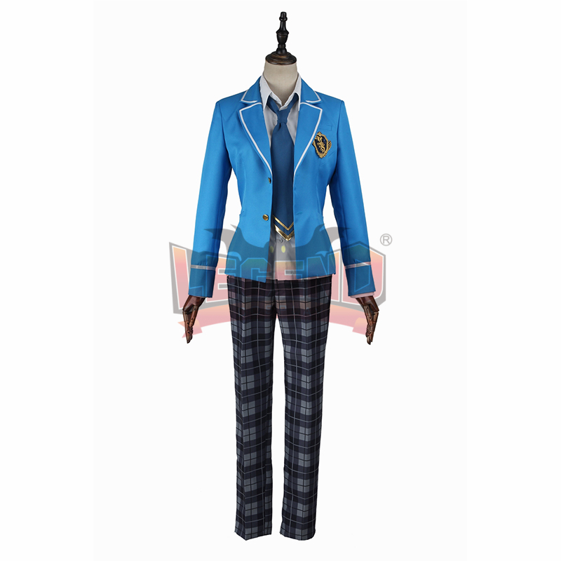 Ensemble Stars male men boy School Uniform Cosplay costume Hokuto Hidaka  Hinata Aoi  Custom Made full set 3 color tie