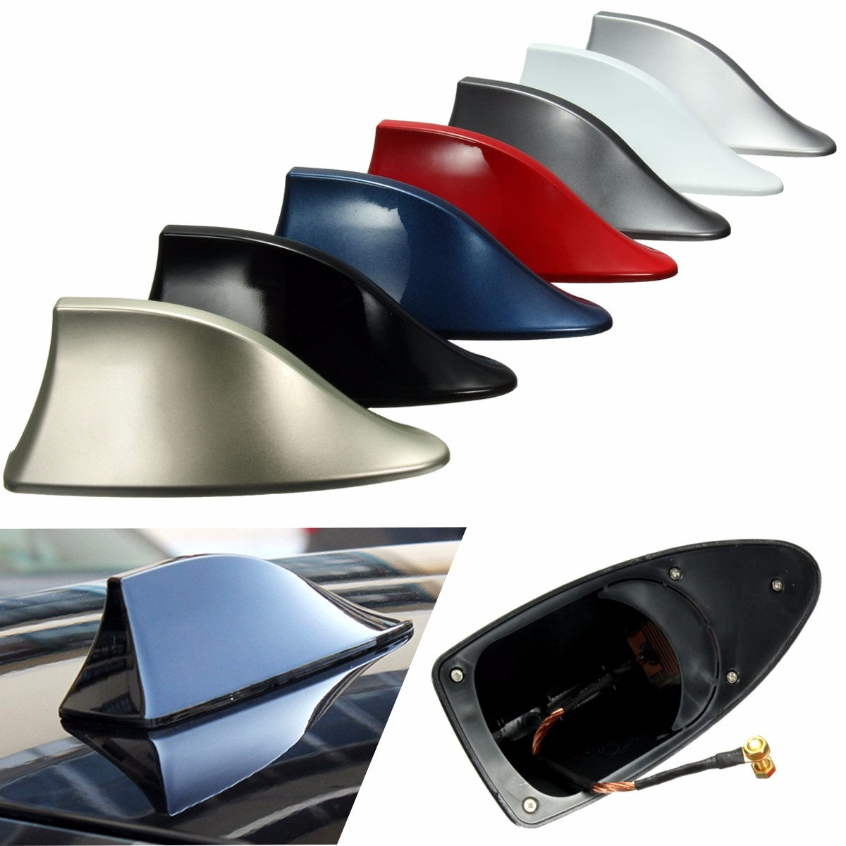 Universal Car Roof Style Shark Fin Antenna Radio Signal Aerials AM/FM For BMW сметан милава 20