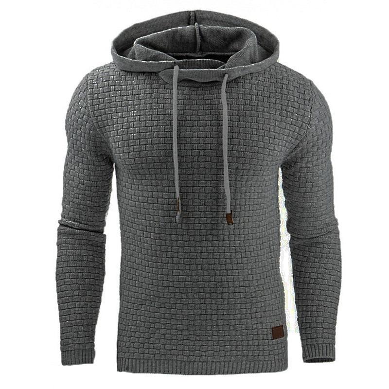Hoodies Men AIRGRACIAS Brand Male Long Sleeve Solid Color Hooded Sweatshirt Mens Hoodie Sweat Coat Casual Sportswear S-5XL