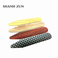 SHANH ZUN 16 Adet ABS Sert Plastik Erkek Kadın Resmi gömlek Yaka Kalır Kemikleri Stiffeners Temizle Cam Şişeler 4 renkler