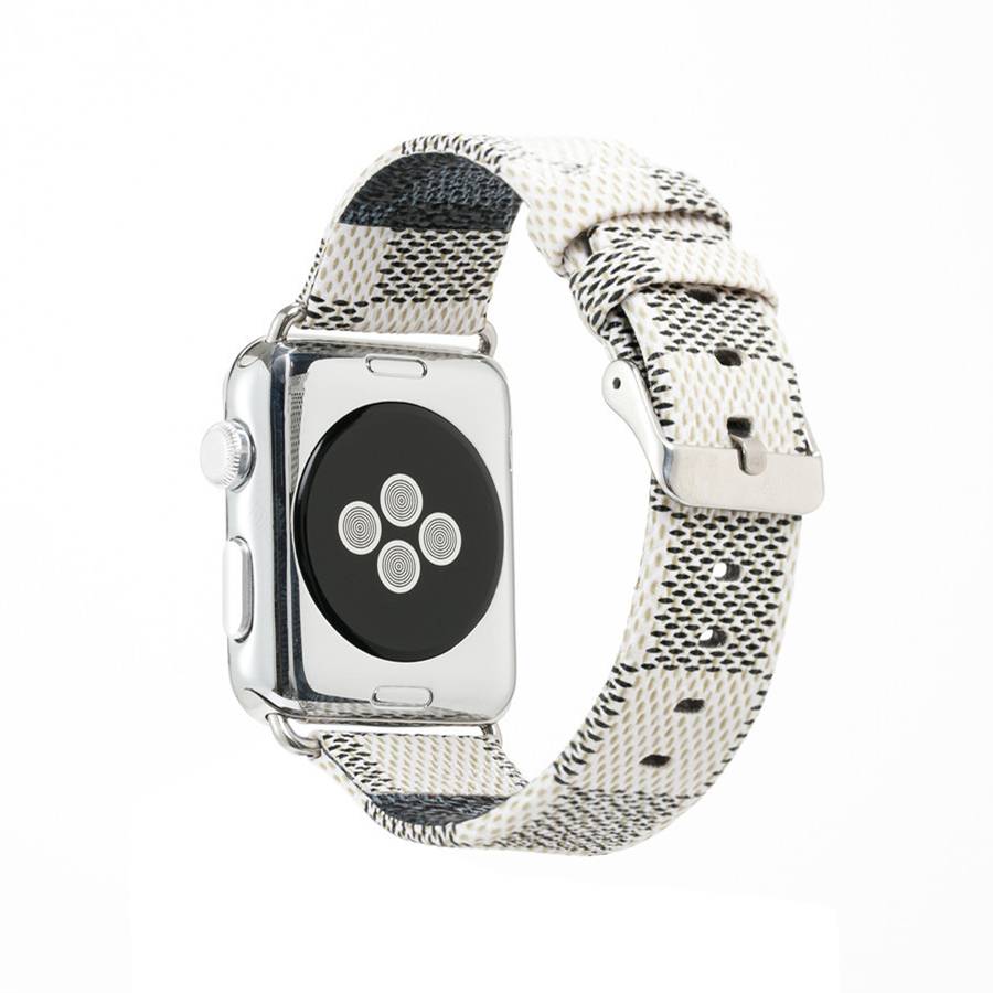 Hot Selling Chequer Design Leather band for Apple watch Series 1/2/3 bracelet Strap 38/42mm Size for iwatch BestHot Selling Chequer Design Leather band for Apple watch Series 1/2/3 bracelet Strap 38/42mm Size for iwatch Best
