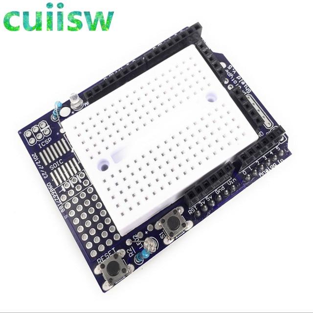 Prototipo de Shield de prototipado ProtoShield para arduino UNO R3 1 unids con mini placa