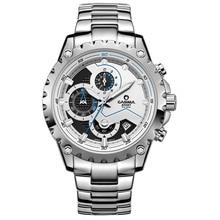 Marca de lujo relojes de acero inoxidable de los hombres de negocios casual sport multifunción hombres reloj de pulsera de cuarzo resistente al agua 100 m CASIMA #8203