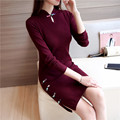 2016 winter arrival chinese female qipao short style cheongsam women traditional silk satin dress