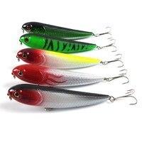 5pcs Set Minnow Fishing Lure Hard Plastic Artificial Lures Crankbait 3D Fish Eye Swim Bait Crankbait