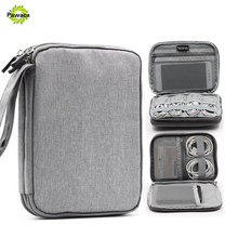 Waterproof Double Layer Cable Storage Bag Electronic Organizer Gadget Travel Bag USB Earphone Case Portable Digital