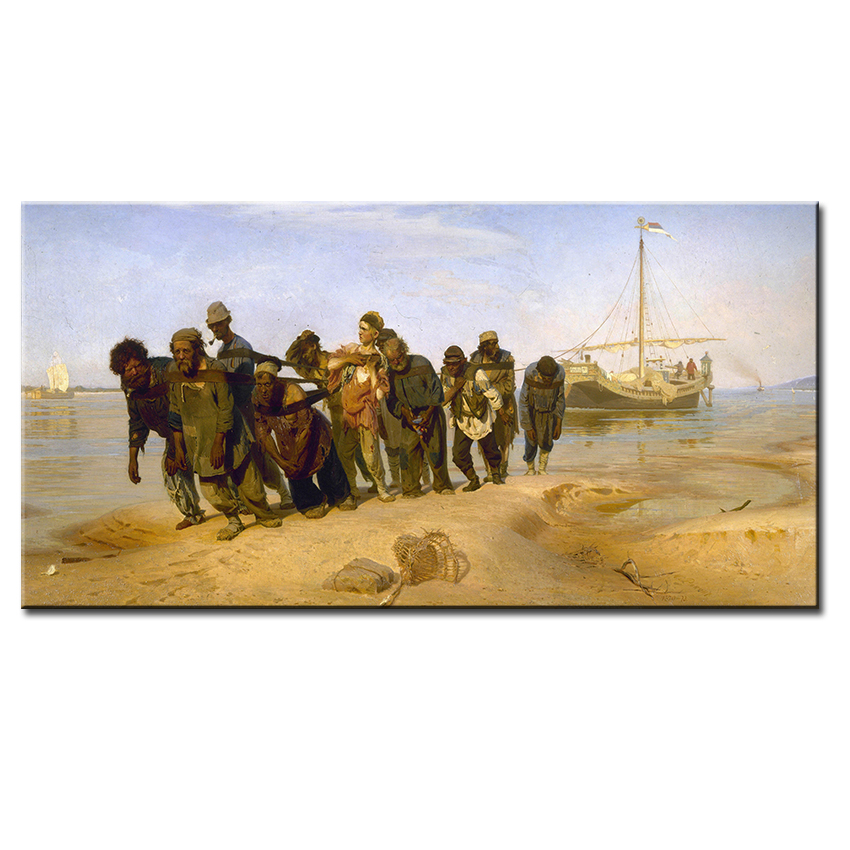 Barge Haulers on the Volga Ilya Repin wall Picture For Living Room oil painting wall art Print wall painting No Framed