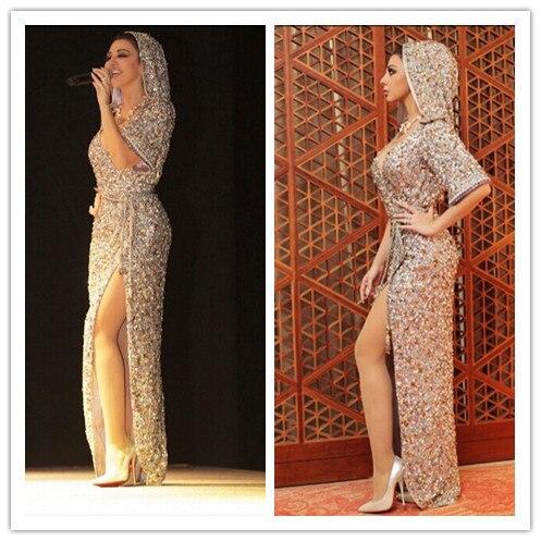 Mf21 потрясающие топ растениеводство высокая сплит длинным gece elbisesi лучше рукоделие полностью бисером игристое дубай вечерние платья ночные платья abiye