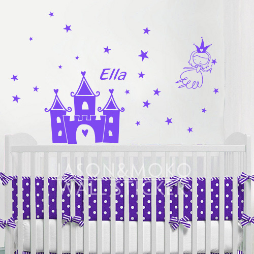 Princess Vinyl Decal Wall Sticker Words Lettering Nursery: Aliexpress.com : Buy Personalized Name Children Wall