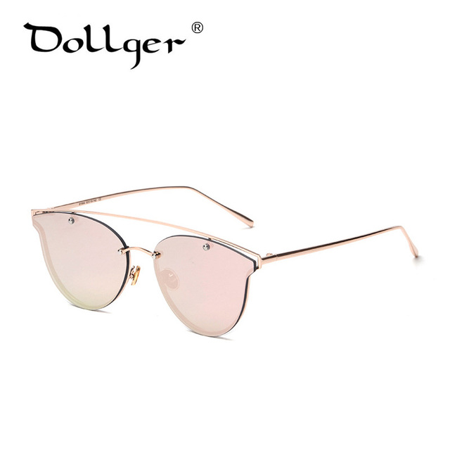 2016 vintage womens cat eye sunglasses brand designer Luxury hollow Metal frames eyeglasses fashion mirror shades lens s1092